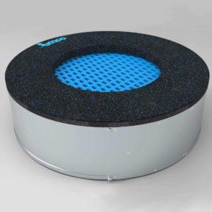 niebieska Trampolina ziemna - Okrągła - 80 cm - wkopana w ziemię, na równo ziemią, na plac zabaw,