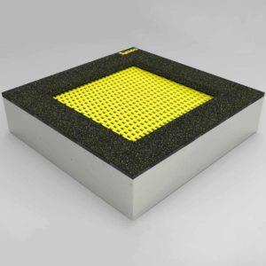 Bodentrampolin – Quad - 120x120cm. Trampolin im Boden montiert. Die Bodentrampoline werden einfach in einem dafür vorher speziell vorbereiteten Boden eingebaut.