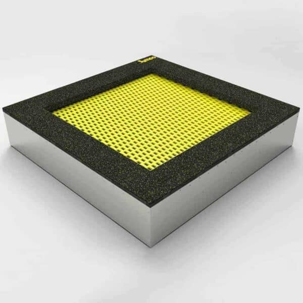 Bodentrampolin – Quad - 150x150cm. Trampolin im Boden montiert. Die Bodentrampoline werden einfach in einem dafür vorher speziell vorbereiteten Boden eingebaut.