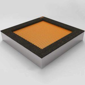 Bodentrampolin – Quad - 180x180cm. Trampolin im Boden montiert. Die Bodentrampoline werden einfach in einem dafür vorher speziell vorbereiteten Boden eingebaut.