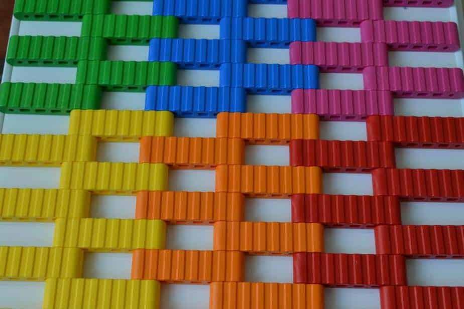 Trampolina ziemna wzór kolorów