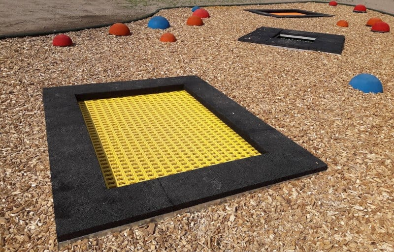 trampolina ziemna