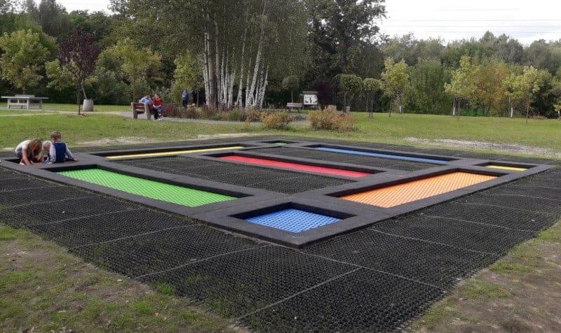zestaw trampolin ziemnych