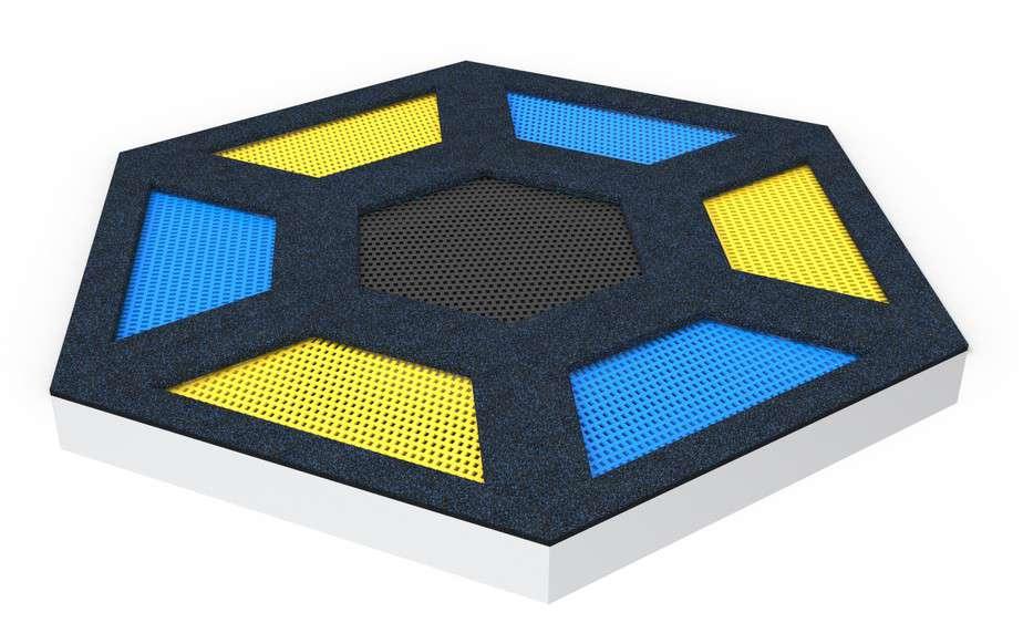 trampolina sześciokątna